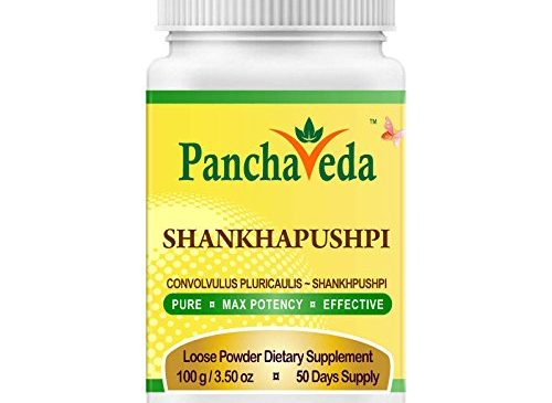 Panchaveda Shankhapushpi Powder Organic, Ayurvedic, Herbal, Natural Nootropic Brain Function Support – Convolvulus Pluricaulis Shankhpushpi Churna Memory Booster For Mental Clarity Focus Intelligence