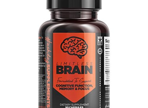 Hashtag Supplements Limitless Brain Supplements – Boost Memory, Focus, Clarity, Improve Brain Function – 30 Day Supply (90 Capsules)
