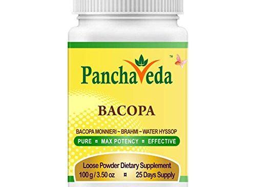 Panchaveda Brahmi Hair Powder Organic, Ayurvedic, Herbal, Natural Brain Function Support – Bacopa Monnieri Churna Anti-Anxiety Memory Booster For Mental Clarity, Focus and Intelligence