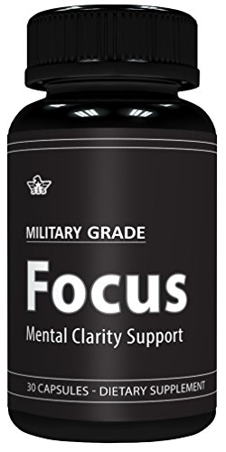 Focus Formula (30 Capsules) Military Grade – Mental Clarity Support – 50mg Ginkgo Biloba Leaf (24% extract) per Serving – USA Made