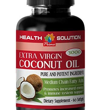 Brain booster memory – EXTRA VIRGIN COCONUT OIL – Coconut oil pills for weight loss 3000mg – 1 Bottle 60 Softgels