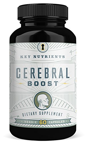Super Strength Brain Support Supplement: CEREBRAL BOOST Aids with Memory, Focus & Clarity. Contains DMAE, Rhodiola Rosea, Gingko Biloba, phosphatidylserine & More.