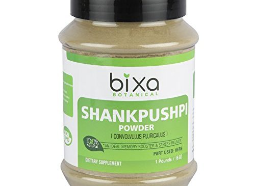 Shankhpushpi powder (Convolvulus pluricaulis) – Memory booster & Stress Reliever (1 Pound / 16 Oz) | Herbal Supplement for brain function support (Brain Tonic), reduce hyper activeness and anxiety
