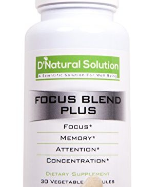 FOCUS BLEND PLUS – Physician Formulated & Tested Brain Supplement for Focus, Energy, Memory & Clarity – Peak Mental Performance Nootropic – Brain Booster with PHA and PEA