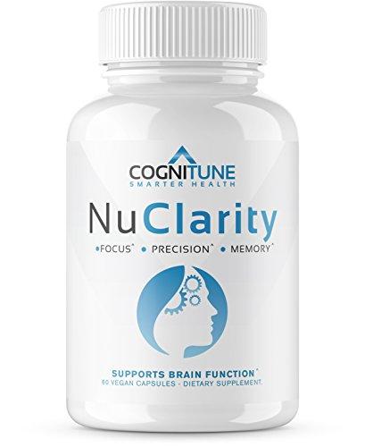 NuClarity – Premium Natural Brain Function Supplement – #1 Focus, Energy, Memory Booster – Mental Health, Clarity & Cognitive Support Nootropic – Ginkgo Biloba, Phosphatidylserine, Rhodiola Rosea