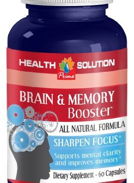 Brain and memory – BRAIN AND MEMORY BOOSTER – Ginkgo biloba bulk supplements – 1 Bottle 60 Capsules