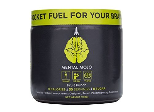 30 Serving Mental Mojo Tub: Rocket Fuel For Your Brain – Super Nootropic Drink Powder Brain Supplement – Patent-Pending Brain Booster Supports Mental Clarity, Memory, Energy and Focus (Fruit Punch Gre