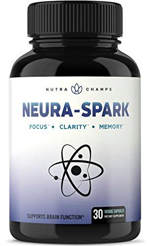 Premium Brain Supplement for Focus, Memory, Energy, Clarity – Nootropic Brain Booster Scientifically Formulated for Optimal Mental Performance – Ginkgo Biloba, St John's Wort, DMAE, Rhodiola & More