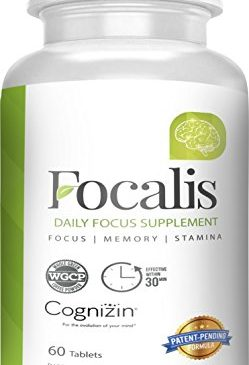 Focalis, 100% Natural Focus Supplement, Fast Acting Memory, Focus, and Stamina Formula, Nootropic, Scientifically Formulated, With Whole Green Coffee Powder, Citicoline, Huperzine A, 60 Count