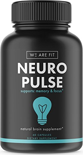 Neuro Pulse Extra Strength Supplement, Brain Function Support for Memory, Focus & Clarity – Mental Performance Nootropic – Brain Booster with DMAE, Huperzine A, Vitamins, Minerals, 60 caps