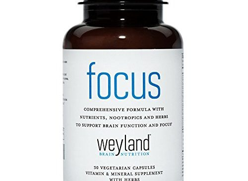 Focus Support Supplement with Vitamins, Minerals and Herbs (30 Vegetarian Capsules)