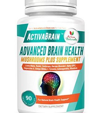 Brain Supplement – 90 Veg Caps with Lions Mane Mushroom, Bacopa Monnieri, Alpha GPC and Ashwagandha Nutritional Supplements