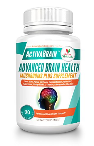 Brain Supplement – 90 Veg Caps with Lions Mane Mushroom, Bacopa Monnieri, Alpha GPC and Ashwagandha Nutritional Supplements