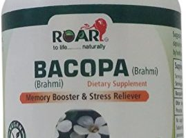 Bacopa (Certified Brahmi) 600 mg Vegetarian Capsules with Bacosides A&B-350mg for Memory Booster and Stress Reliever