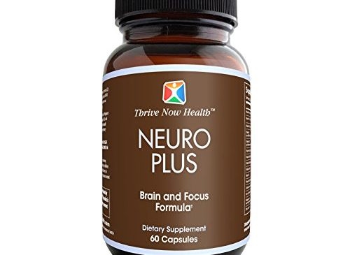 Thrive Now Health Neuro Plus Brain Supplement w/ Biotin (60 Capsules) Natural Nootropic | Memory Booster Promotes Clarity, Focus, Cognitive Function | Men, Women