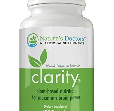 Nature's Doctors Clarity – Physician Formulated Brain Supplement, Plant-Based Formula: Improve Focus, Memory & Mood