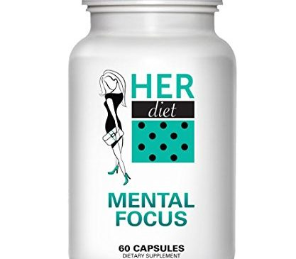 HERdiet Mental Focus for Women Extra Strength Supplement with Cognitive Brain Boosters like Nootropics Increase Clarity Memory Booster & Productivity