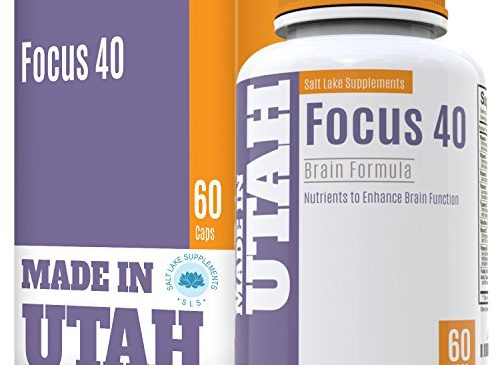 FLASH SALE – Brain Booster Focus 40 Brain Formula is a Powerful Nootropic and Brain Supplement That Supports Mental Alertness, Memory, Focus, and Concentration – Made in Our Lab in Utah