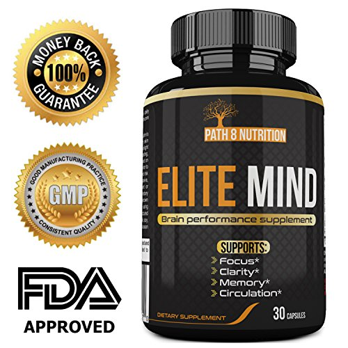Premium Brain Booster Supplement – All Natural Nootropic Stack – Brain Supplement Supports Enhanced Memory, Focus, and Clarity – USA Formulated, 30 Day Supply, Powerful One Per Day Formula