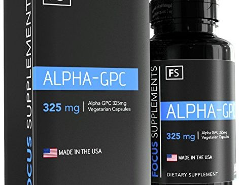Alpha GPC – 325mg per Capsule – 60 Vegetarian Capsules – Focus Supplements – Choline | Nootropic | Brain Enhancing Supplement – Packaged in ISO Licenced Facilities – 100% Money Back Guarantee