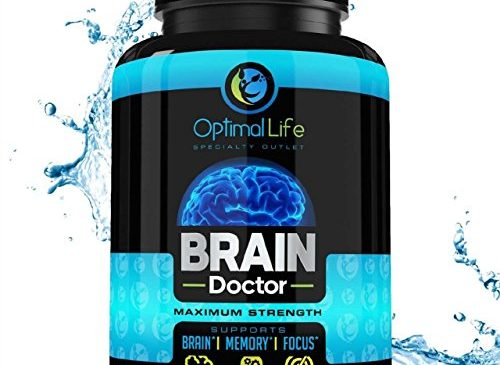Brain Booster, Nootropic, Focus Anxiety Energy & Brain Supplement, Maximum Strength Brain & Memory Booster to Optimize Brain Function – Increase Clarity & Energy, Mood Enhancer, w DMAE, Gluten Free