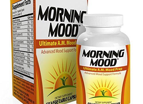 Morning-Mood: Ultimate A.M. Mood Prep (Natural Mood Enhancer / Booster / Vitamins / Supplements) 60 Vegetable Caps