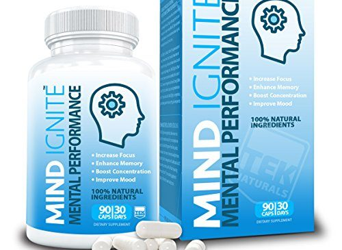 Mind Ignite™ Mental Performance 16 Ingredients – Extra Strength Nootropic Brain Supplement for Focus, Energy, Memory, Clarity, Concentration & More – Scientifically Formulated Brain Booster (1)