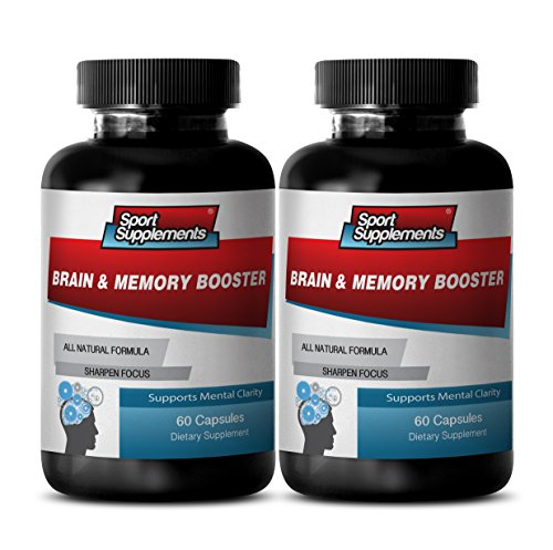 Memory Supplements Senior – Brain and Memory Booster – Brain and Memory Support to Boost Memory, Focus and Concentration (2 Bottles 120 Capsules)