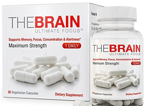 The Brain Ultimate Focus Maximum Strength Brain Supplement (1 month Supply) (30 Capsules)