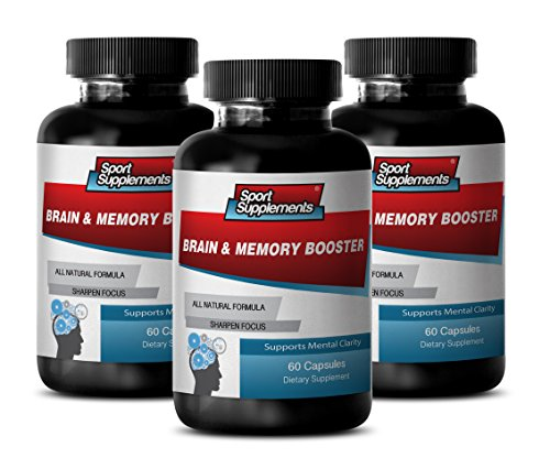 Organic Brain Booster – Brain and Memory Booster – Mind and Mental Activity Support with Brain and Memory Booster (3 Bottles 180 Capsules)