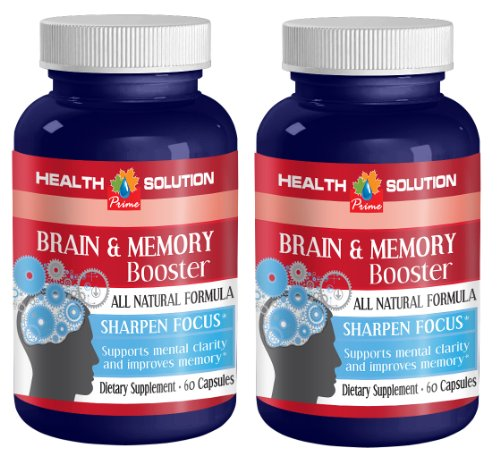 Brain supplement energy – BRAIN AND MEMORY BOOSTER – St johns wort ginko biloba – 2 Bottles 120 Capsules