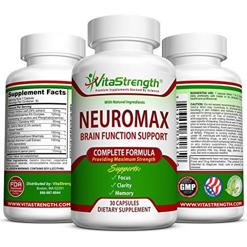 Mind and Memory Supplement – Natural Brain Function Booster Supplement For Focus, Mental Alertness & Clarity – Nootropic Stack Pills with St John's Wort, Ginkgo Biloba, L-Glutamine & More