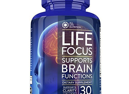 Brain Booster Nootropic Supplement By All Life Nutrition Focus, Memory, and Clarity Enhancer – Brain Supplement with Ginkgo Biloba, Saint John's Wort, Bacopa Monnieri and More, 30 Mental Energy Pills